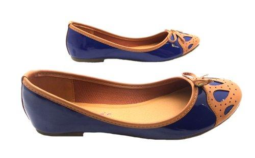 Dolcis  Ols009, Ballerines pour femme Bleu bleu