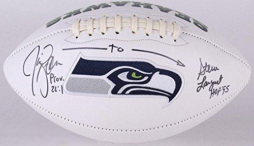 (Jim Zorn & Steve Largent Autographed Football (seattle Seahawks) - Coa! - JSA Certified - Autographed Footballs)
