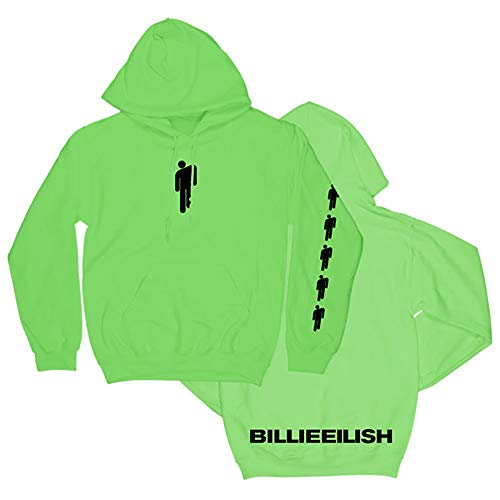 Y-OITY Women's Casual Long Sleeve Pullover Sweatshirt Billie-Eilish-Blohsh Girl's Shirt Hoodie Tops Green M