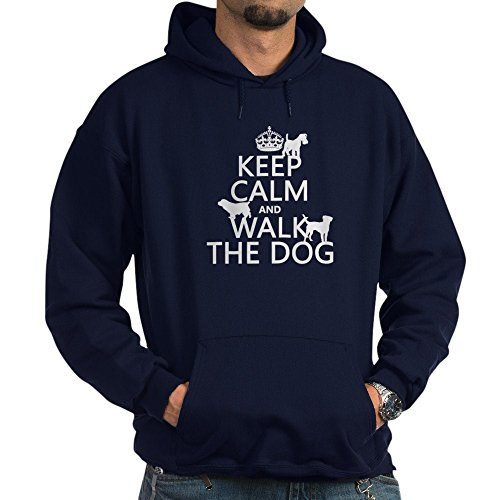 CafePress Keep Calm and Walk The Dog Hoody - Pullover Hoodie, Classic & Comfortable Hooded (Insulated Dog Kennel Jacket)