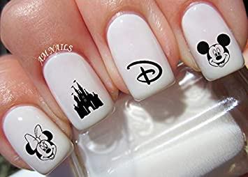 Amazon Com Disney Mickey And Minnie Mouse Water Nail Art Transfers