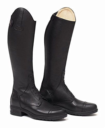 Mountain Kids Richmond Junior Horse Competition Black High Boot Young Leather Grain rHxar
