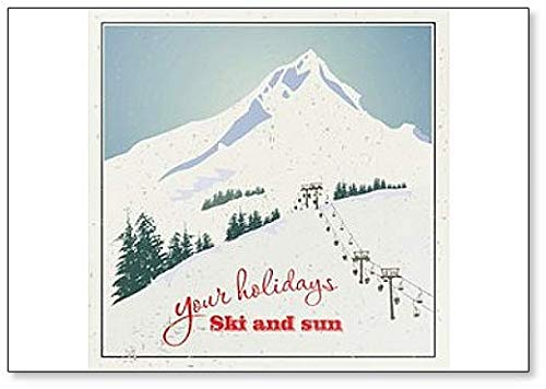 Winter. Mountains And Ski Lift, Your Holidays Ski And Sun - Classic Fridge Magnet