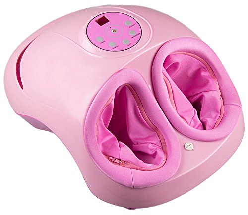 Shiatsu Foot Massager By Clever Creations | Foot Massager Machine for Relaxation - Relief of Sore Feet - Foot Care | Variable Settings for Heat and Intensity | Fits Most Foot Sizes | Pink