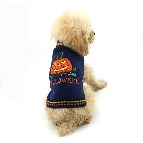 Delifur Halloween Pumpkin Dog Sweater Pet Costume Fashion Holiday Party Puppy for Dogs and Cats by (L) by Delifur