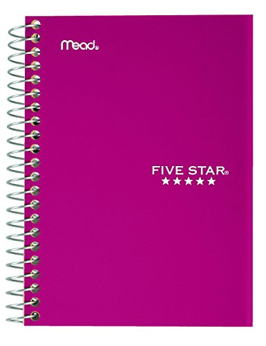 "043100454847 - Five Star Personal Spiral Notebook, 7"" x 4 3/8"", 100 Sheets, College Rule, Assorted colors (45484) carousel main 2"