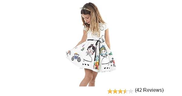 RETUROM Vestido de niña, 2019 Vestidos de la Muchacha Blanca Linda ...