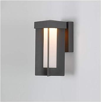 & apliques pared dormitorio Lámpara de pared, simple moderna al aire libre LED Impermeable Terraza Pasillo Puerta Balcón Escalera Jardín Lámpara lampara pared (Size : 19.5 * 14 * 34cm): Amazon.es: Iluminación
