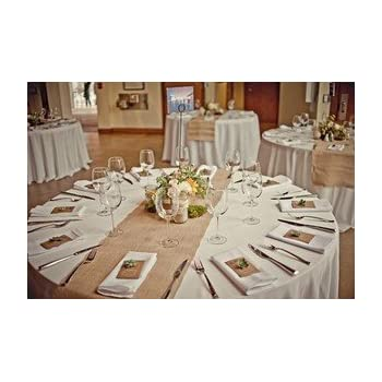 Burlap Table Runners: Rustic Weddings Or Events 102x15 Inch Jute Burlap  Table Runner For Country