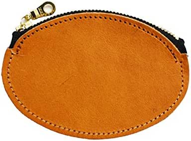 Natural Tanned Leather Coin purse Round