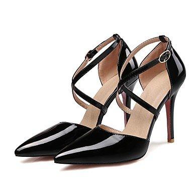 Black Tacón Stiletto Vestido Cuero Sandalias Negro Mujer Rosa LvYuan Beige Amarillo Patentado Otro Blanco OqnwHFn5
