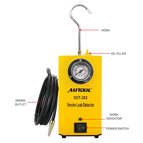 AUTOOL SDT-202 Automotive Fuel Leak Detector 12V Car Leak Locator Tester Support EVAP Car Fuel Leak Detector SDT202 Car Pipe Leak Tester for All Vehicle by AUTOOL (Image #2)