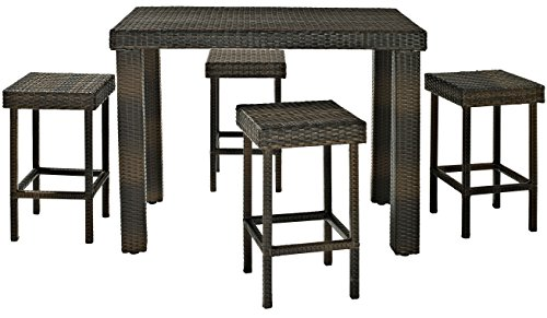 Crosley 5 Piece Palm Harbor Outdoor Wicker High Dining Set