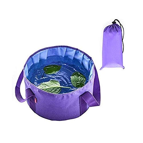 プレミアム コンパクト ポータブル 多機能 耐久性 漏れ防止 洗面台 折りたたみ可能 バケツ 洗面ボウル キャンプ用   B07R8LP78R