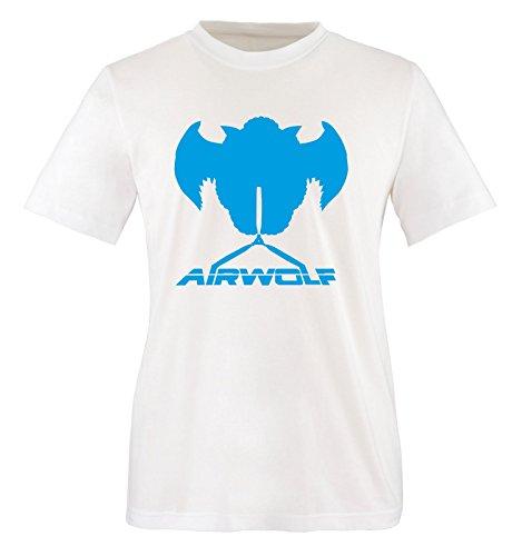 Air Hombre Blanco cortas Mangas Blanco wolf azul Camiseta dWfHqw7d