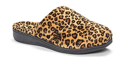f006c8cdde7 Vionic Women s Indulge Gemma Slipper - Ladies Adjustable Slippers with Concealed  Orthotic Support Tan Leopard 8 B(M) US (B00594LPOC)