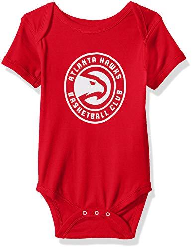 Outerstuff NBA NBA Newborn & Infant Atlanta Hawks Primary Logo Short Sleeve Bodysuit, Red, 0-3 Months