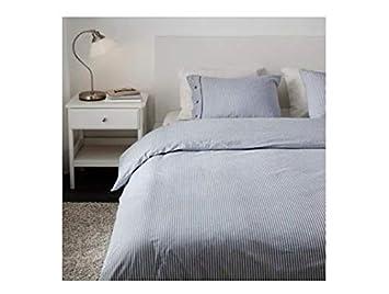 Ikea Nyponros Housse De Couette Et Taies D Oreiller 4 Blanc Bleu