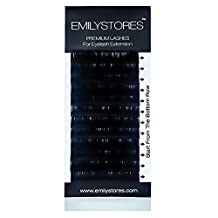 EMILYSTORES Eyelash Extension Individual Loose Signature Mink Eyelash C Curl Thickness 0.25mm Length 10mm Silk Lashes by EMILYSTORES
