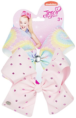 Jojo Siwa Bows Signature Collection Hair Bows Rainbow - Pink