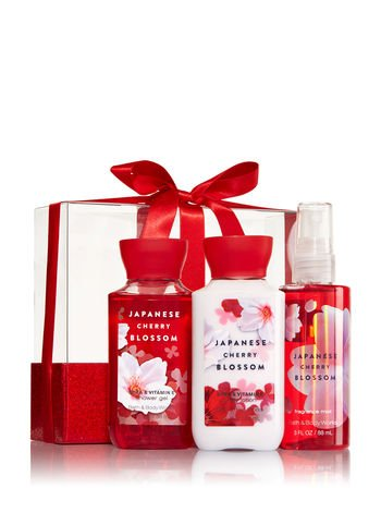 Bath and Body Works Japanese Cherry Blossom Three Piece Gift Set New - Japanese Cherry Blossom Gift