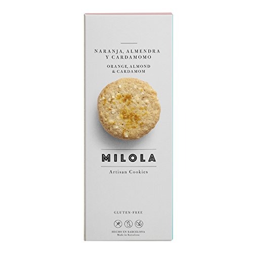 Milola - Galletas de Naranja, Almendra y Cordomomo - 140 gramos: Amazon.es: Alimentación y bebidas