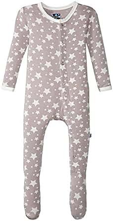 KicKee Pants Unisex Baby Print Footie Prd-Kpf173-Fesr, Feather Stars, 0-3 Months
