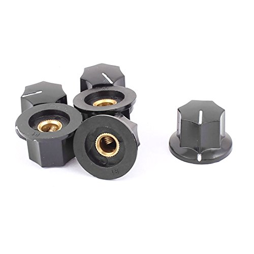 16mm Split Shaft (uxcell Plastic Potentiometer Knob Cover Cap 23mm x 16mm x 6mm 6Pcs Black)