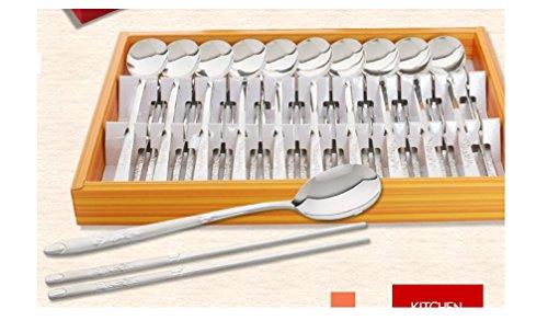 Kitchen Flower Kitchen Flower Premium Stainless Steel Chopstick and Spoon 10 Set ()
