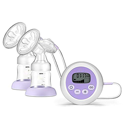 AOV Electric Breast Pump Breastfeeding Pump Double/Single Milk Pump 9 Suction Mode with Screen LETING