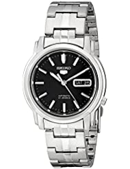 Seiko Mens SNKK71 Seiko 5 Automatic Stainless Steel Watch with Black Dial