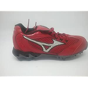 New Mizuno Watley 9 Spike 320230.1073 Womens 6 Red/Black Softball