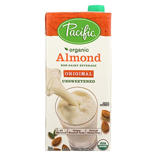 Pacific Natural Foods Almond Original - Unsweetened - Case of 12 - 32 Fl oz. by Pacific Natural Foods