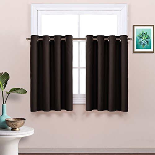 Nicetown Multi Sizes and Colors Blackout Valance / Tier Grommet Curtain Drape (Color Blackout Curtain)