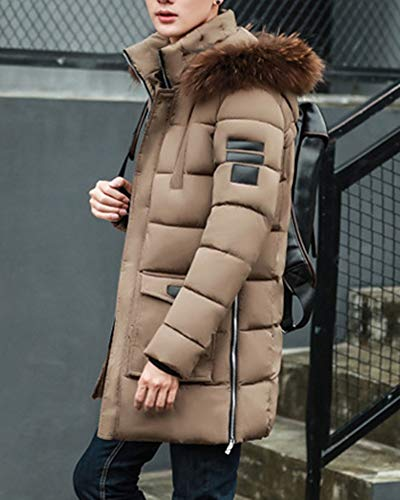 Parka Outdoor Outerwear Casual Long Jacket Padded Khaki Winter Coat Mens Coats Down Simple Warm p4vRq