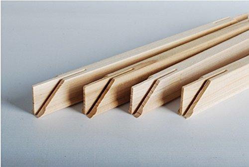Massivholzrahmen (4 Haften Sie eine Set) für Ölgemälde 16''x20 '', 40x50cm mit Reißzwecken