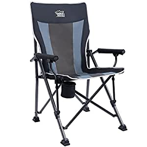 Timber Ridge Camping Chair Ergonomic High Back Support 300lbs With Carry  Bag Folding Quad Chair Outdoor