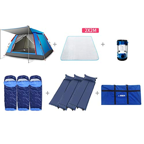 Aurora 3 Person Tent - ALUS- Fully Automatic Tent Outdoor 3-4 People Family Camping Field Leisure Tents 215 215 142cm (Size : G)