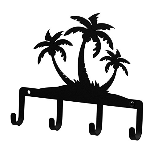 Iron Palm Trees Key Rack / Jewelry Holder - Black Metal