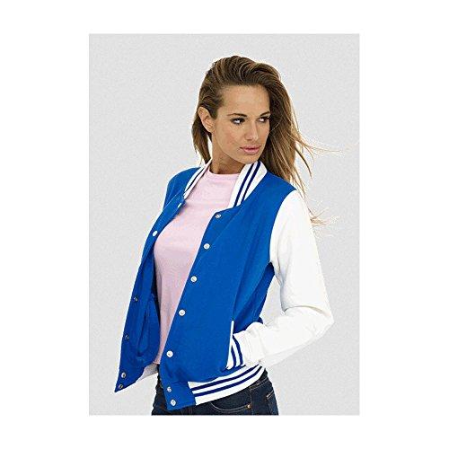 Uneek uc526Mujer de poliéster/algodón Varsity chaqueta Multicolor