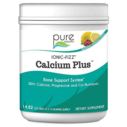 Pure Essence Labs Ionic Fizz Calcium Plus - Perfect Calcium/Magnesium Ratio with Every Co-Factor Needed for Strong Bones - Raspberry Lemonade - 420 Grams
