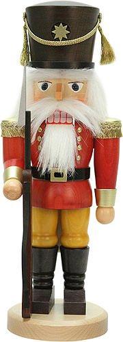German Christmas Nutcracker soldier red - 42,5cm / 16.7inch - Christian Ulbricht by Authentic German Erzgebirge Handcraft
