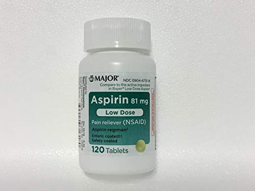 Major Pharmaceuticals Aspirin Low-Dose 81mg Tablets, 120 Count