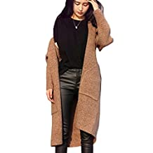 Betti Charm Womens Long Oversized Pocket Cardigan Sweater Coat