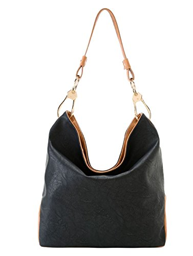 'caba' Black Hobo Bag By Shiraleah S-01-27-433