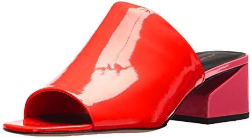 Via Spiga Women's Porter Slide Sandal, Hot Orange Patent, 7.5 Medium (Orange Patent Sandals)