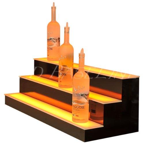 Home & Bar Lighted Bar Shelf 3 Step 34'' by LED Baseline (Image #2)