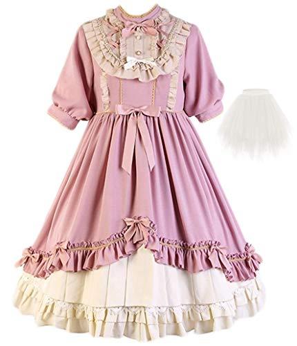 Topin Luxury Lolita Dresses Sweet Girl Half Sleeves Kawaii Princess Dress 2020