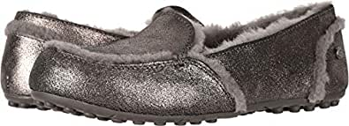 UGG Women's W Hailey Metallic Sneaker, Gunmetal, 9 M US