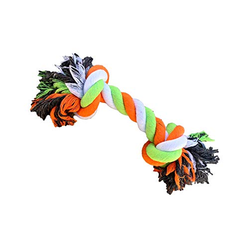 Yo Fetch Dog Rope Toy for Aggressive Chewers 2 Knot Toy for Medium and Large Dogs